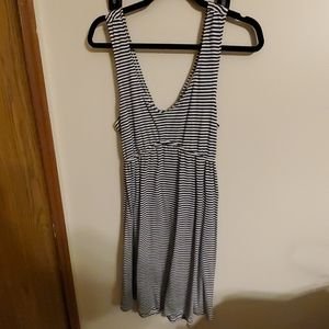 Striped open back sundress